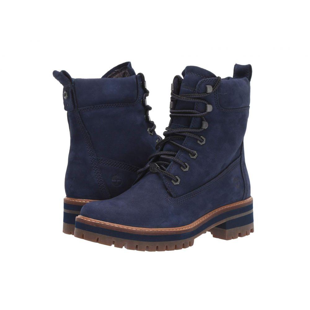 ティンバーランド Timberland レディース ブーツ シューズ・靴【Courmayeur Valley 6' Boot】Navy Nubuck