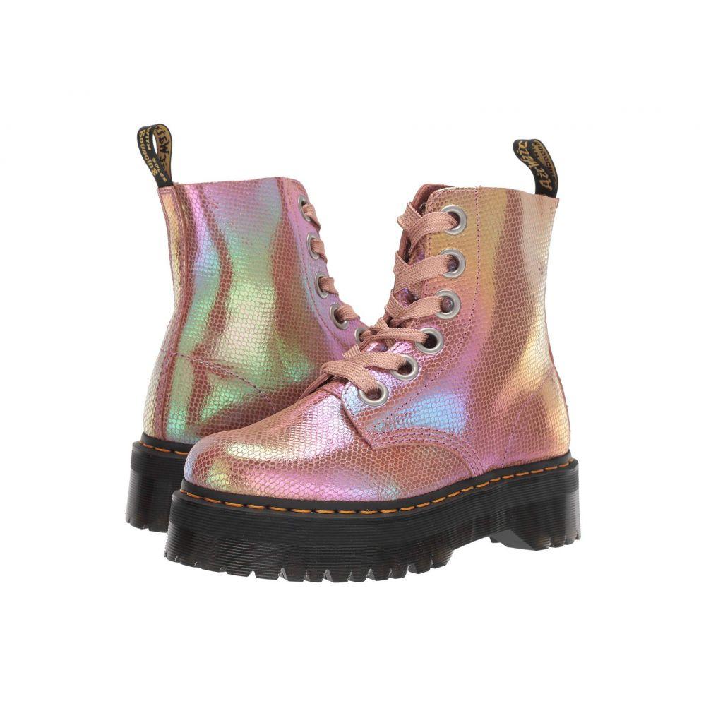ドクターマーチン Dr. Martens レディース ブーツ シューズ・靴【Molly Quad Retro】Pink Iridescent Texture
