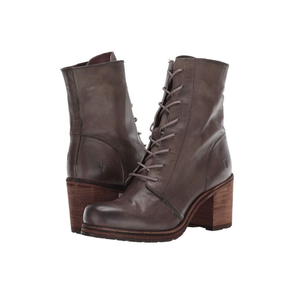 フライ Frye レディース ブーツ シューズ・靴【Karen Combat】Grey Vegetable Tan Leather