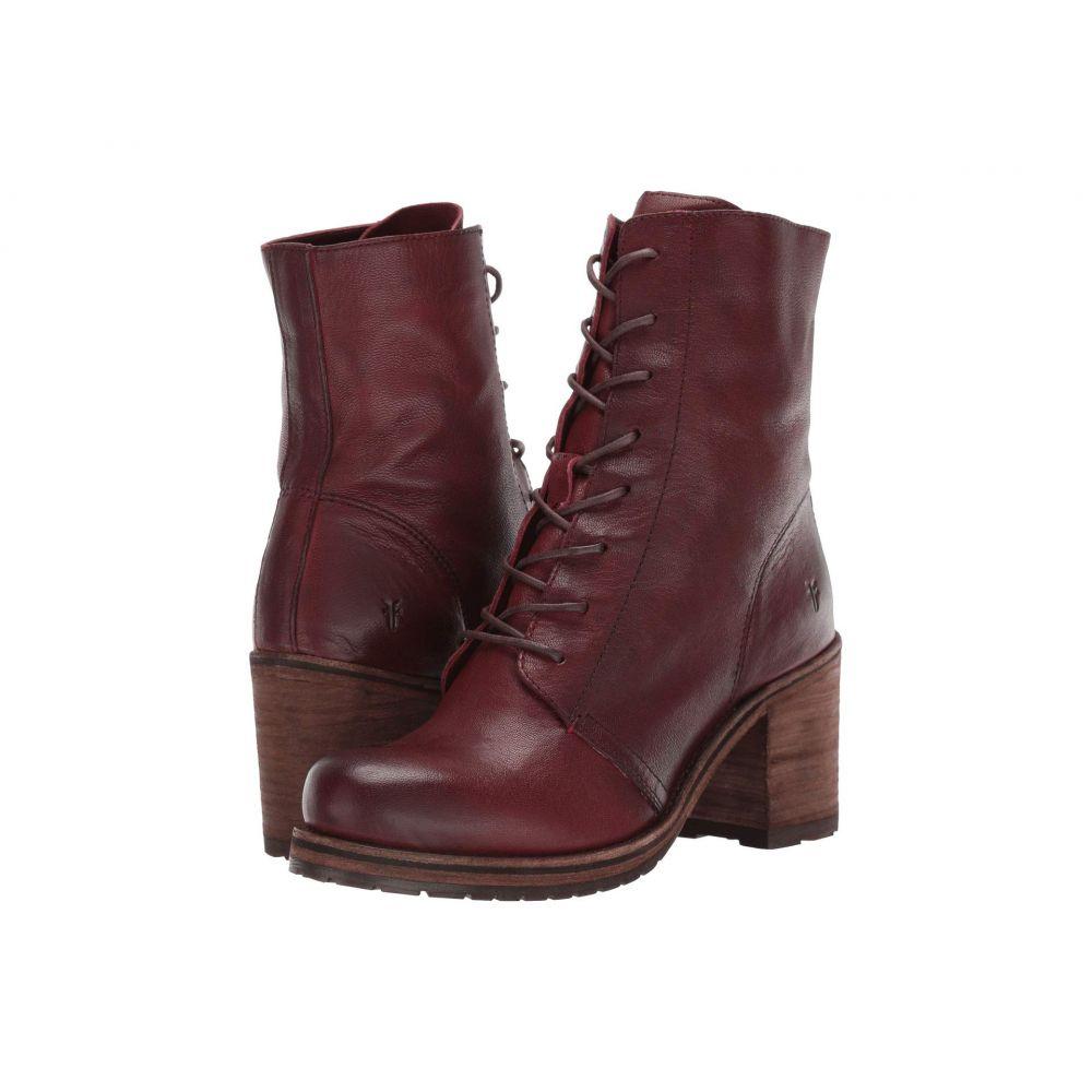 フライ Frye レディース ブーツ シューズ・靴【Karen Combat】Plum Vegetable Tan Leather