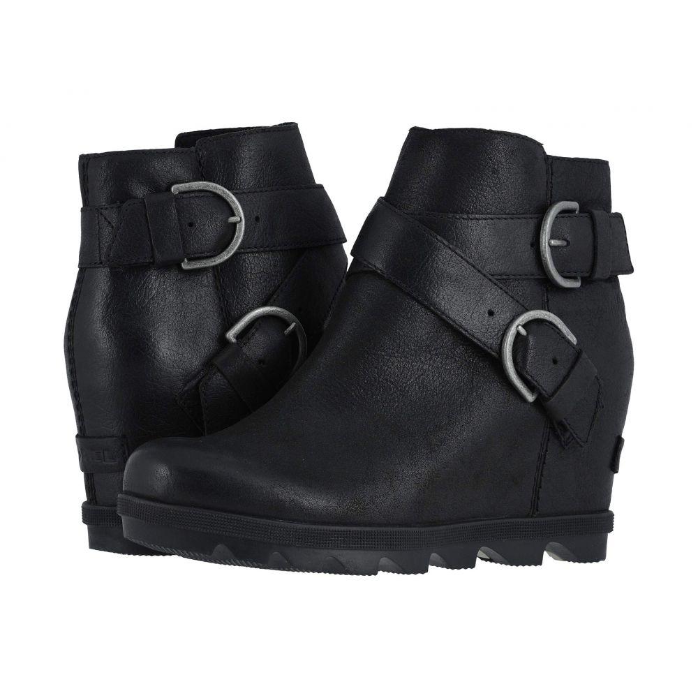 ソレル SOREL レディース ブーツ ウェッジソール シューズ・靴【Joan of Arctic(TM) Wedge II Buckle】Black