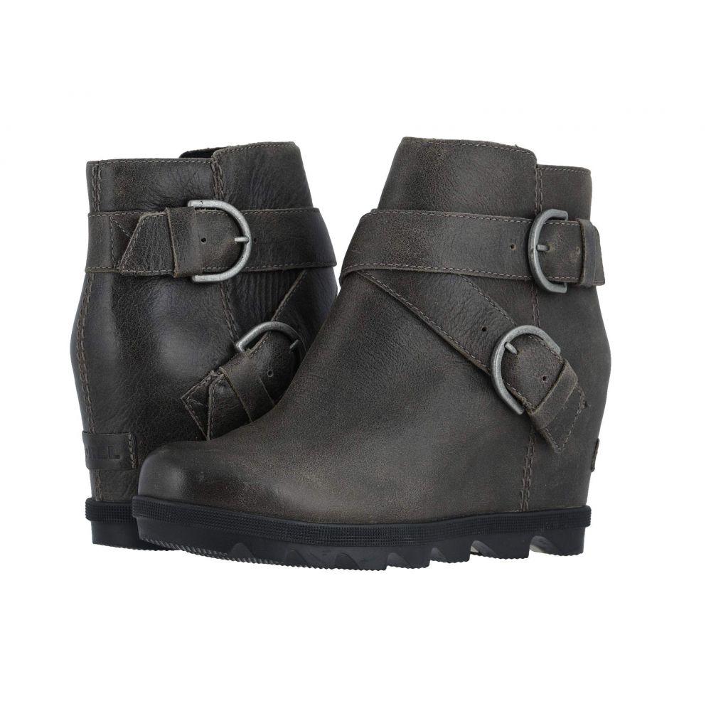 ソレル SOREL レディース ブーツ ウェッジソール シューズ・靴【Joan of Arctic(TM) Wedge II Buckle】Quarry