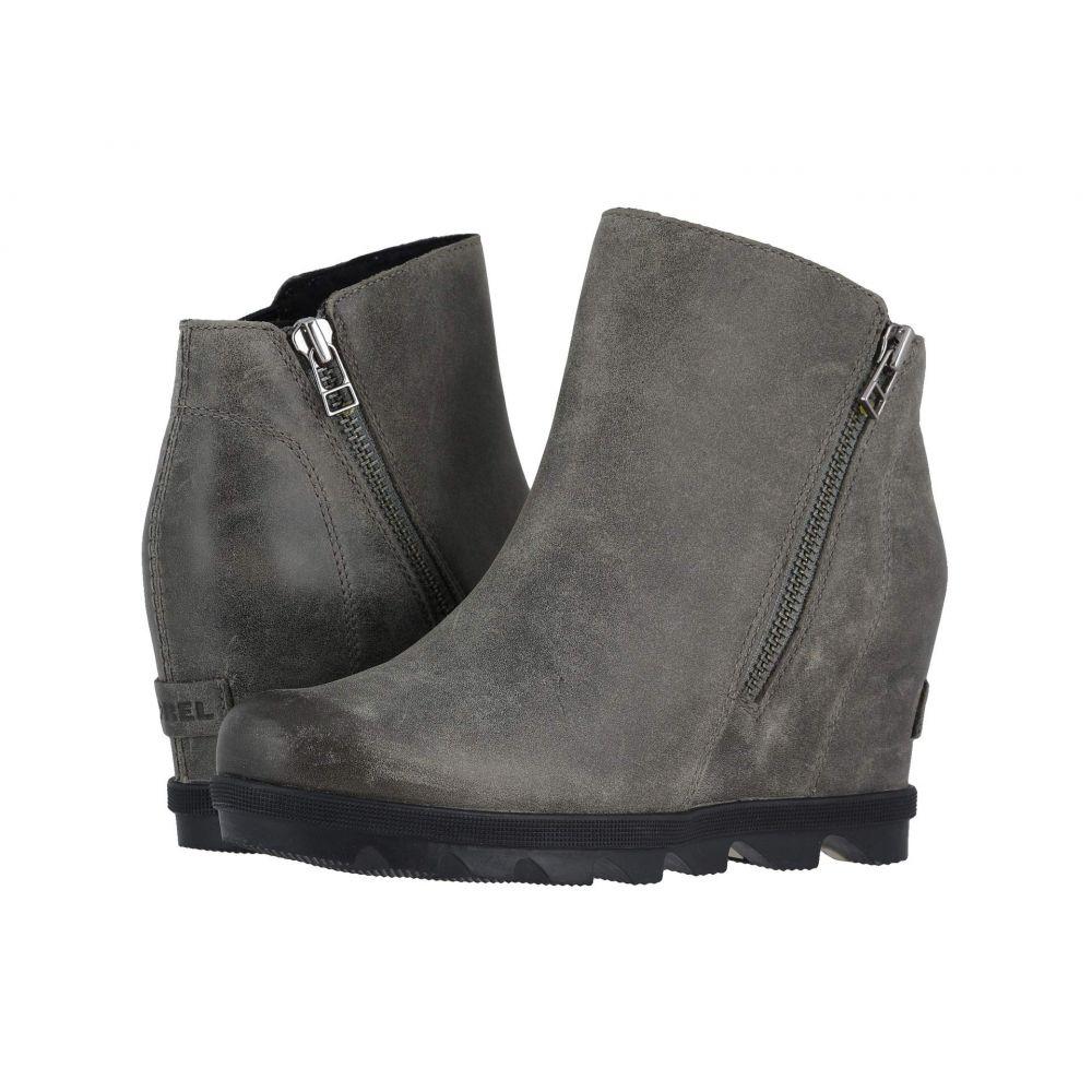 ソレル SOREL レディース ブーツ ウェッジソール シューズ・靴【Joan of Arctic(TM) Wedge II Zip】Quarry