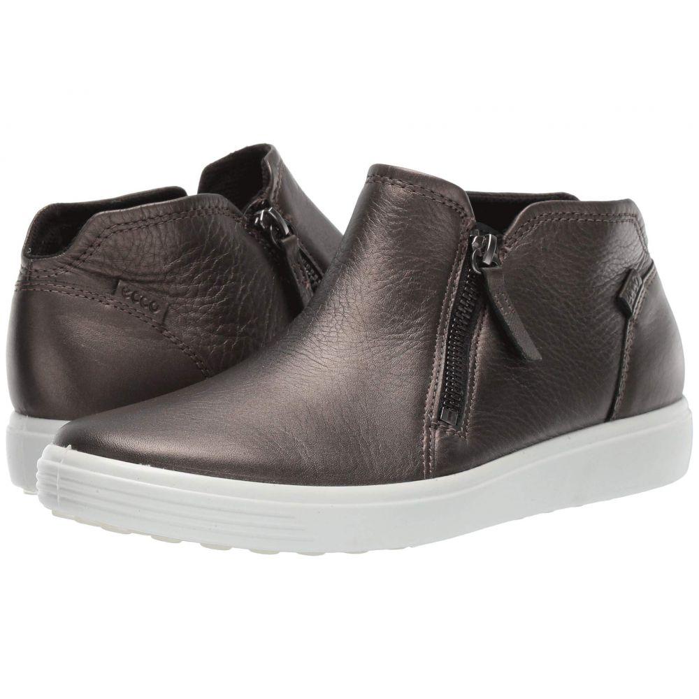 エコー ECCO レディース ブーツ シューズ・靴【Soft 7 Zip Bootie】Black Stone Metallic Cow Leather