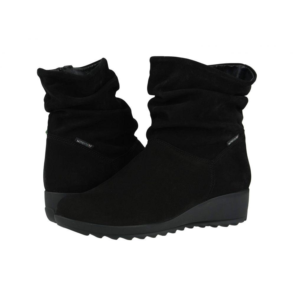メフィスト Mephisto レディース ブーツ シューズ・靴【Agatha】Black Bucksoft