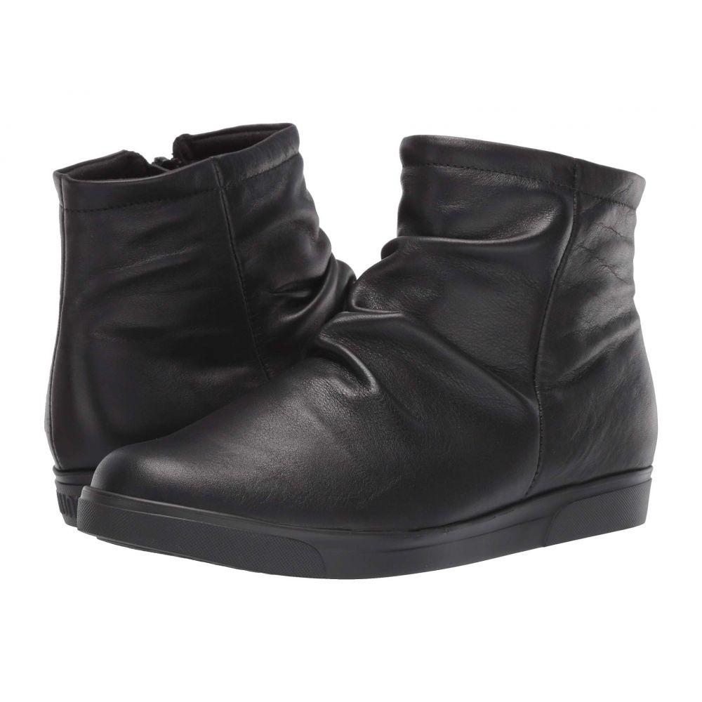 マンロー Munro レディース ブーツ シューズ・靴【Abbot】Black Leather