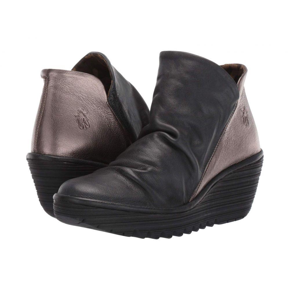 フライロンドン FLY LONDON レディース ブーツ シューズ・靴【Yip】Black/Bronze Janeda/Idra