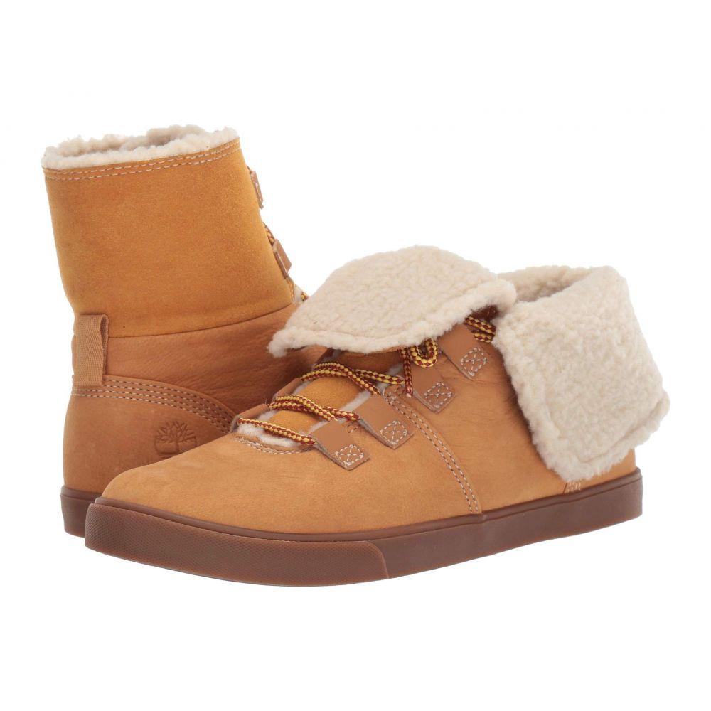 ティンバーランド Timberland レディース ブーツ シューズ・靴【Dausette Fleece Fold Down】Wheat Nubuck