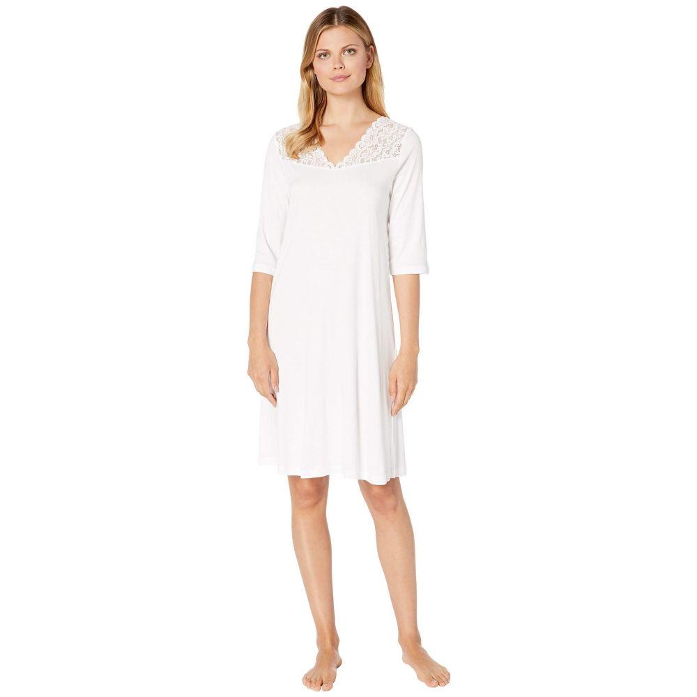 ハンロ Hanro レディース パジャマ・トップのみ 七分袖 インナー・下着【3/4 Sleeve Gown】White