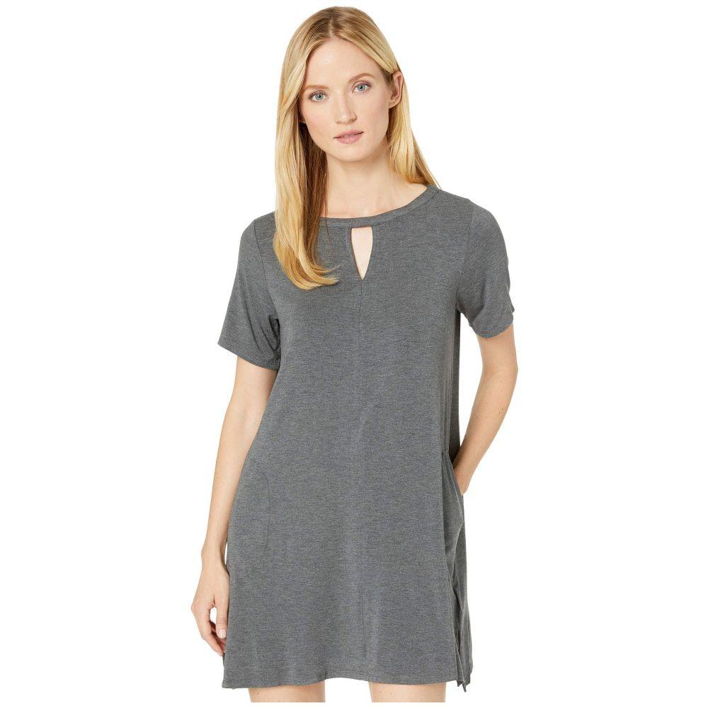 ダナ キャラン ニューヨーク Donna Karan レディース パジャマ・トップのみ インナー・下着【Modal Spandex Jersey Short Sleeve Sleepshirt】Charcoal Heather