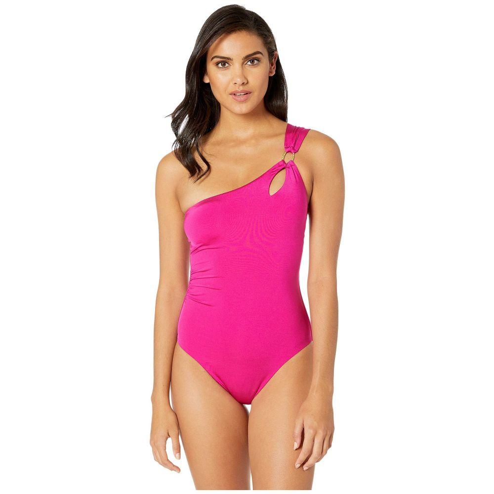 トリーナ ターク Trina Turk レディース ワンピース 水着・ビーチウェア【Getaway Solids One Shoulder One-Piece Swimsuit】Berry