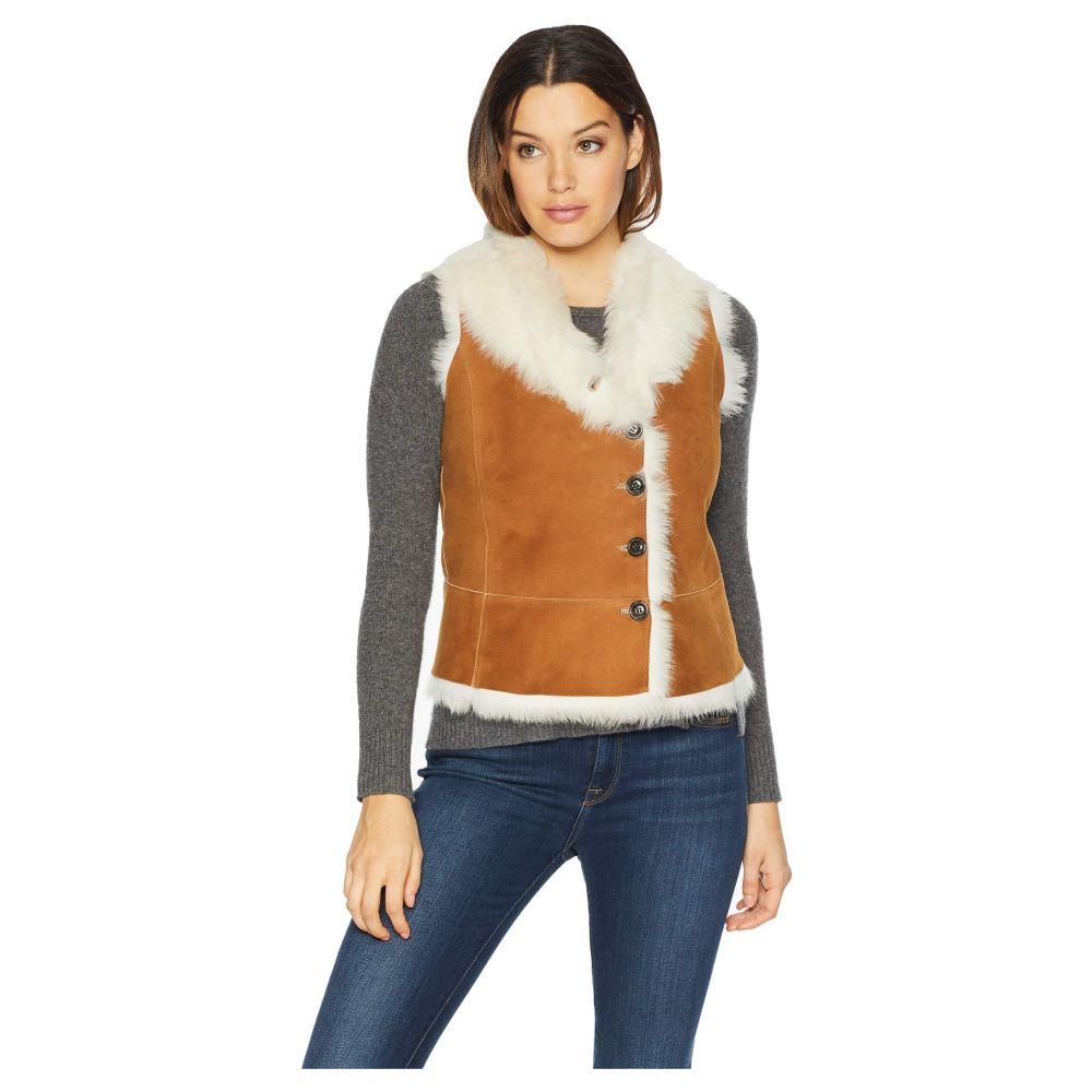 アグ UGG レディース ベスト・ジレ シアリング トップス【Renee Toscana Shearling Vest】Chestnut