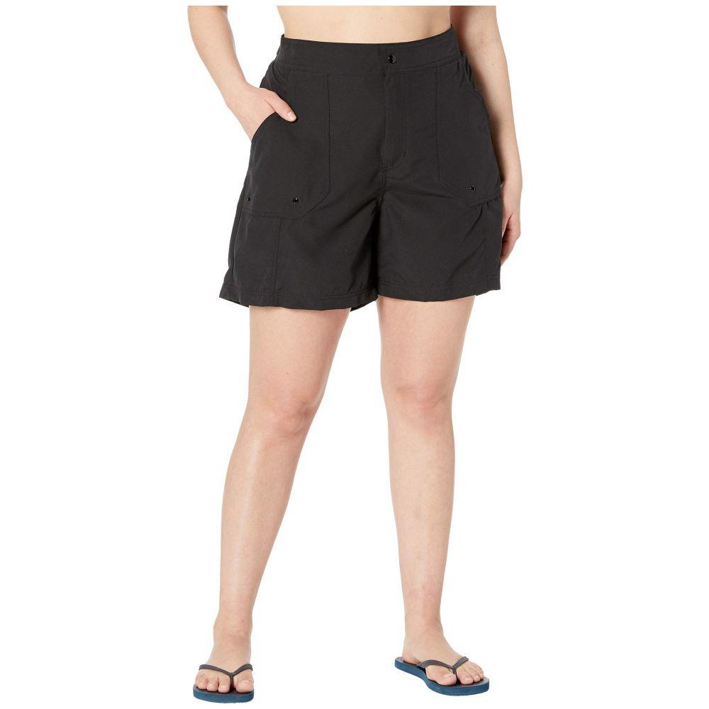 マキシン オブ ハリウッド Maxine of Hollywood Swimwear レディース ボトムのみ 大きいサイズ 水着・ビーチウェア【Plus Size Solids Woven Long Boardshort】Black