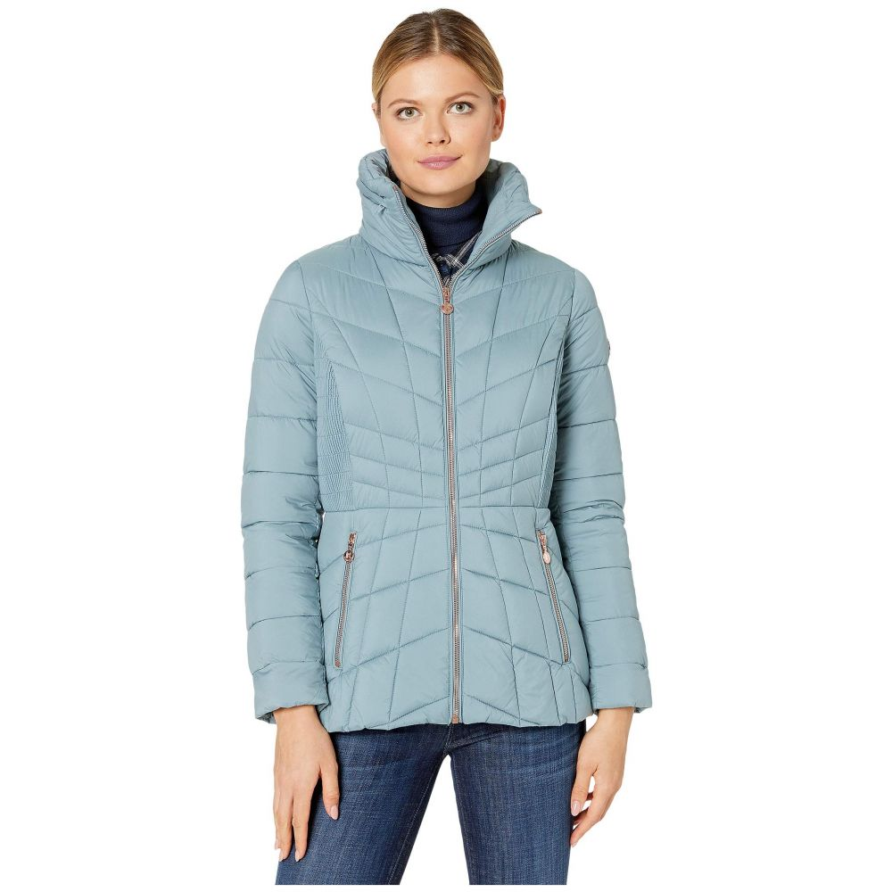 ベルナルド ファッションズ Bernardo Fashions レディース ダウン・中綿ジャケット アウター【EcoPlume Packable Puffer Jacket】Sea Foam Blue