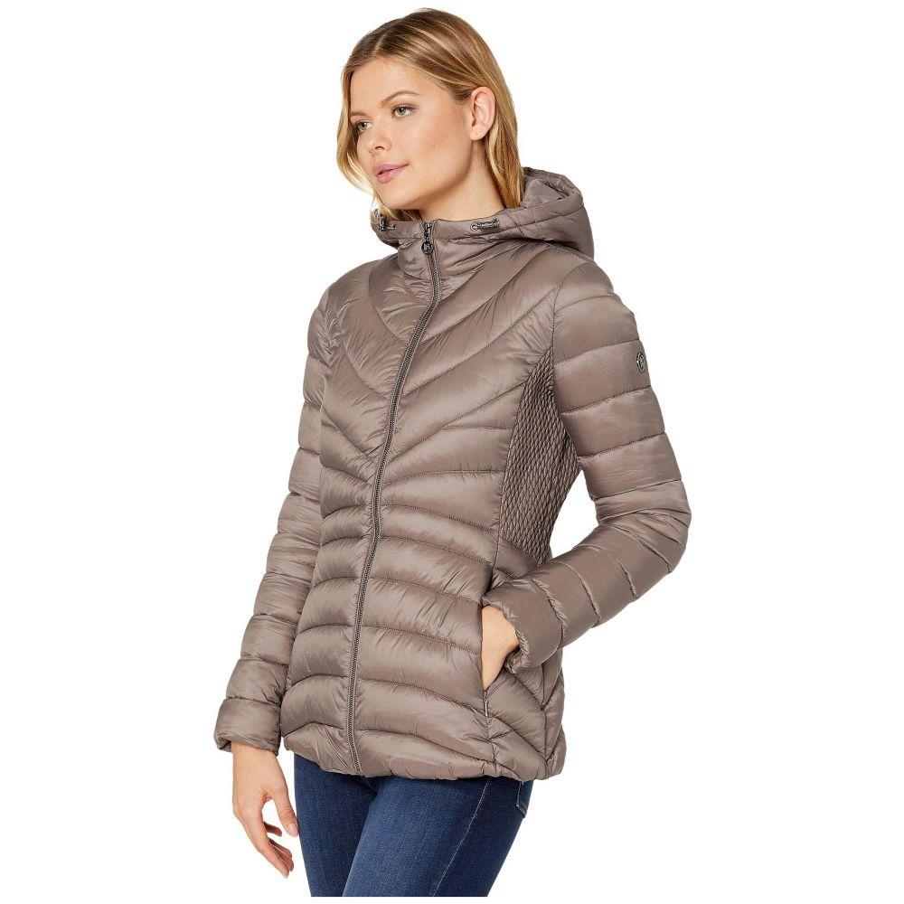 ベルナルド ファッションズ Bernardo Fashions レディース ダウン・中綿ジャケット フード アウター【EcoPlume Hooded Packable Puffer Jacket】Antique Silver