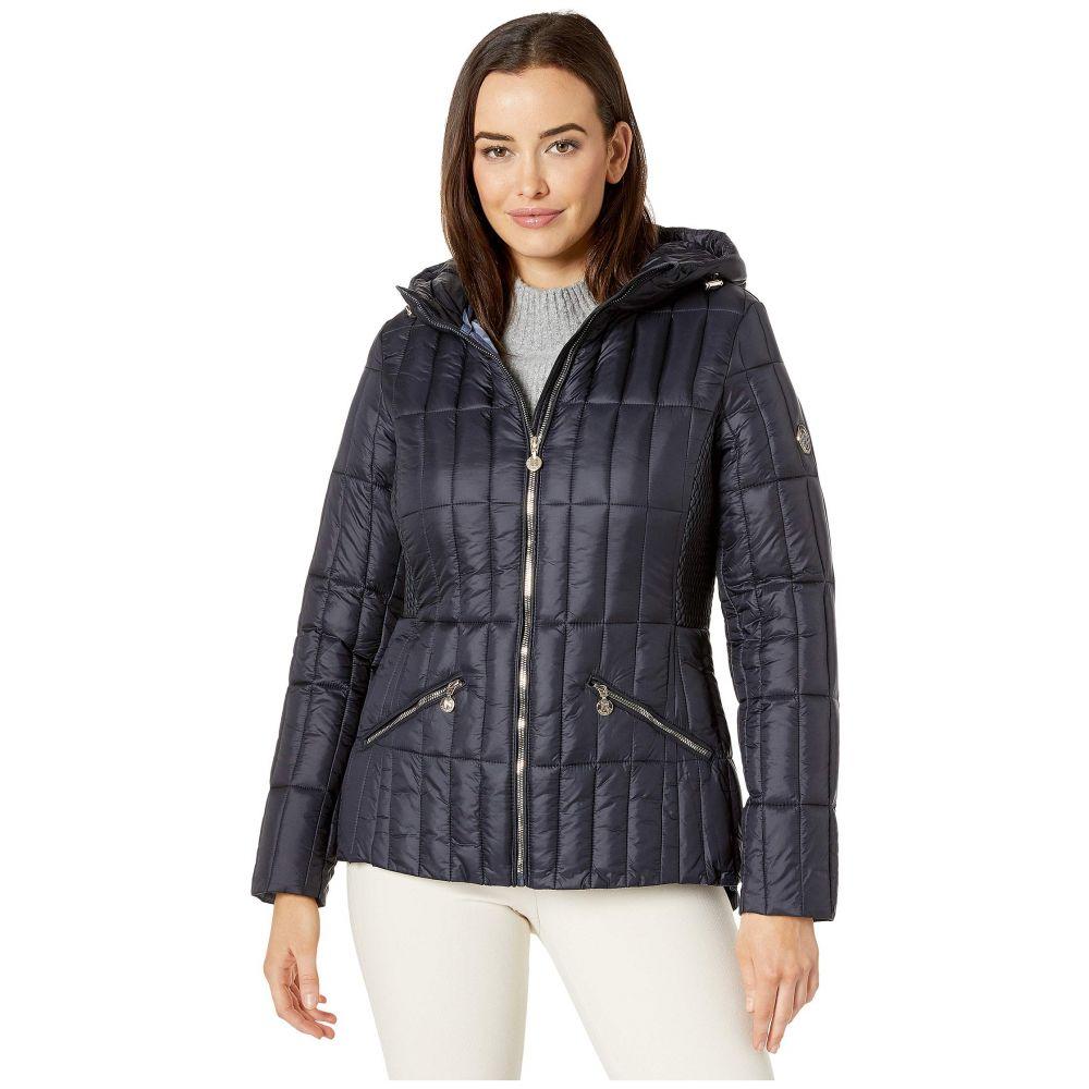 ベルナルド ファッションズ Bernardo Fashions レディース ダウン・中綿ジャケット フード アウター【EcoPlume Hooded Packable Puffer Jacket】Deep Ocean Blue