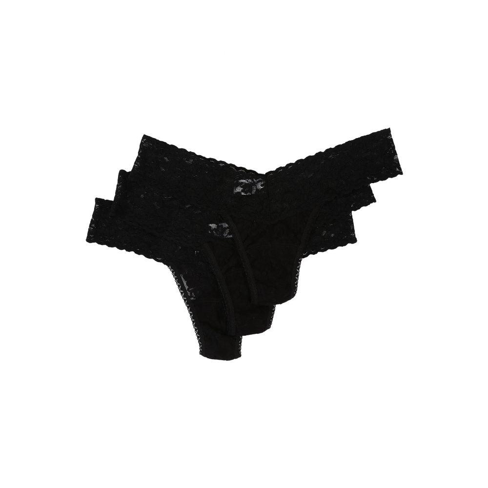 ハンキーパンキー Hanky Panky レディース ショーツのみ 3点セット インナー・下着【3-Pack Low Rise Thong】Black