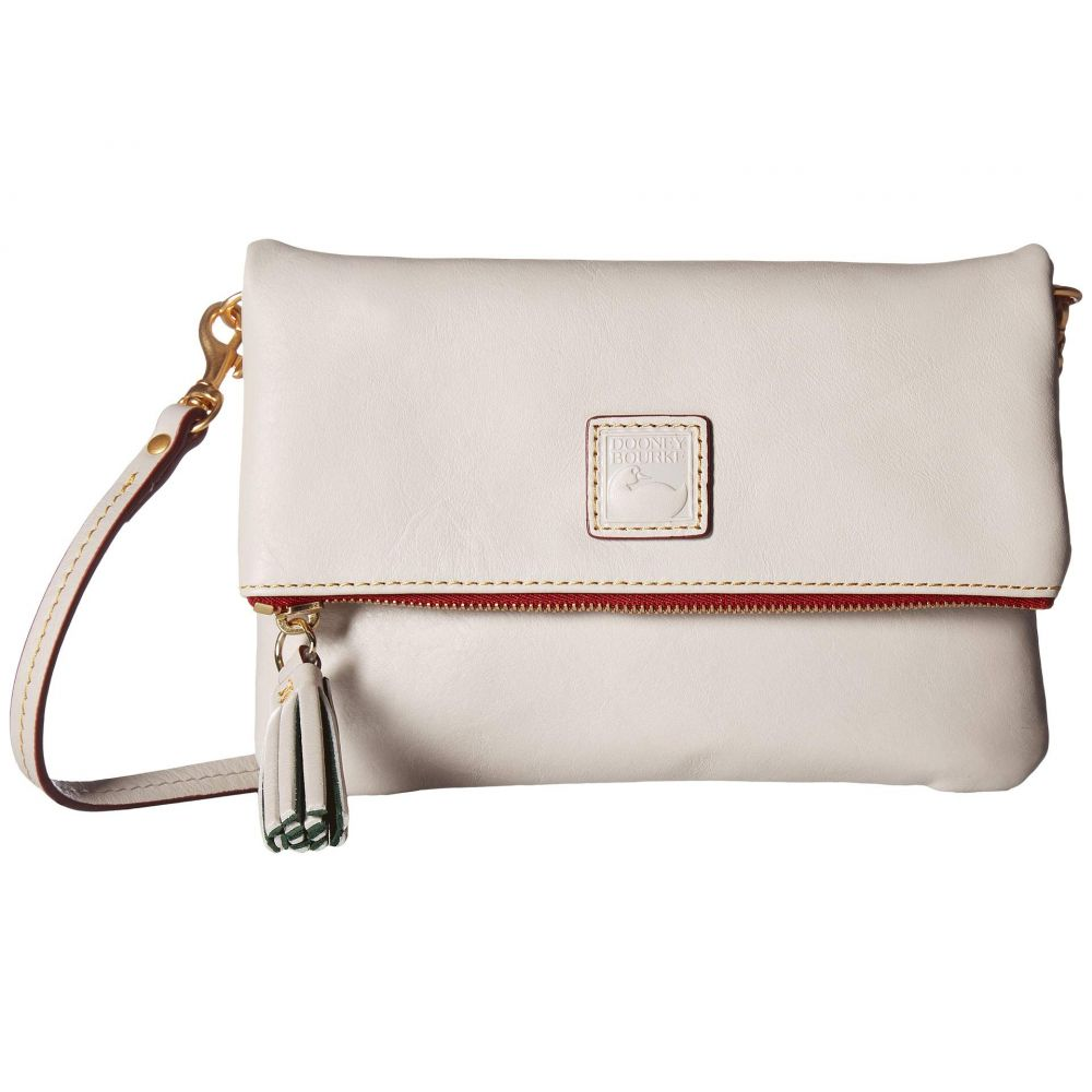 ドゥーニー&バーク Dooney & Bourke レディース ショルダーバッグ バッグ【Florentine Classic Fold-Over Zip Crossbody】Ecru/Ecru Trim