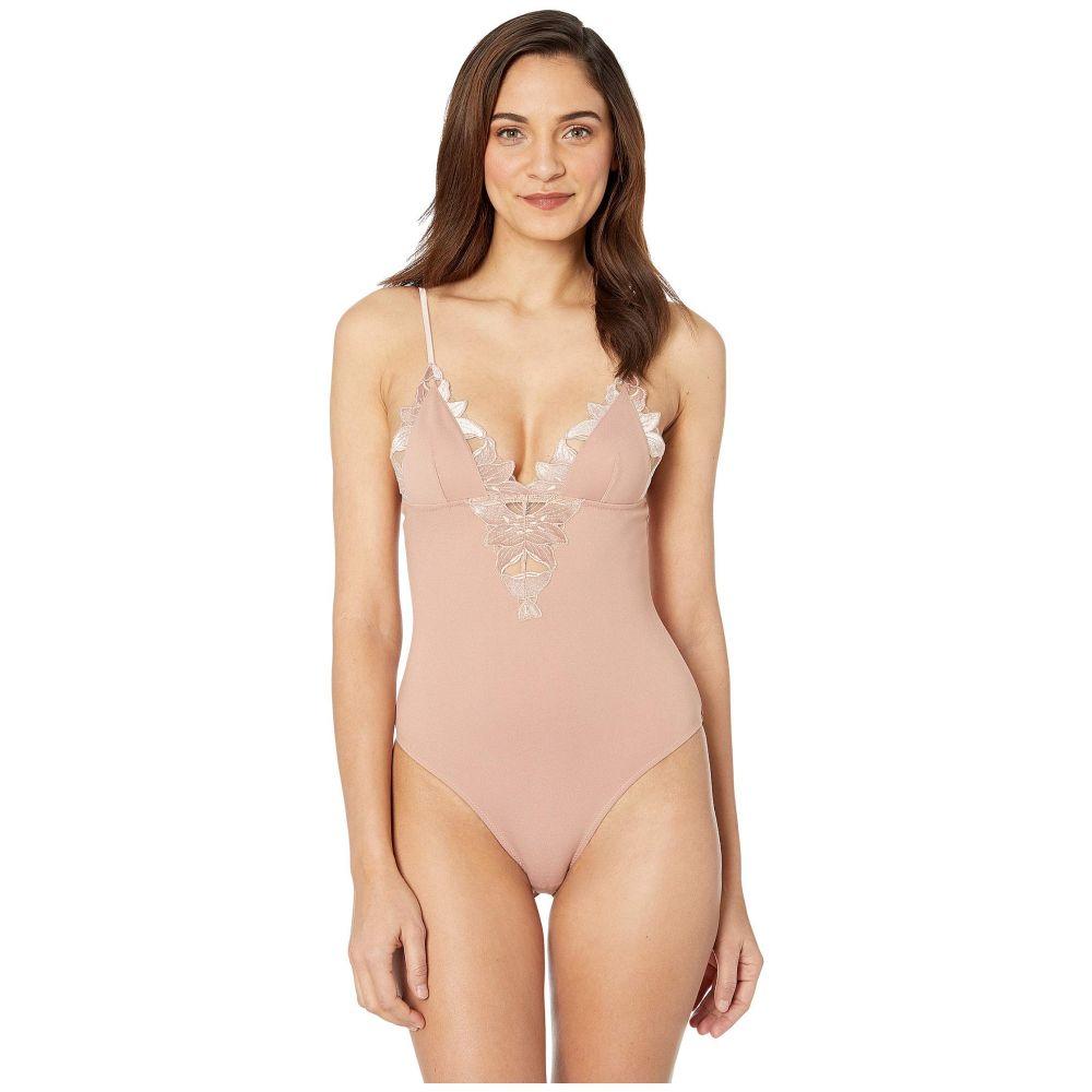 フルール ドゥ マル fleur du mal レディース ボディースーツ インナー・下着【Velvet Lily Lace Bodysuit】Platinum Rose