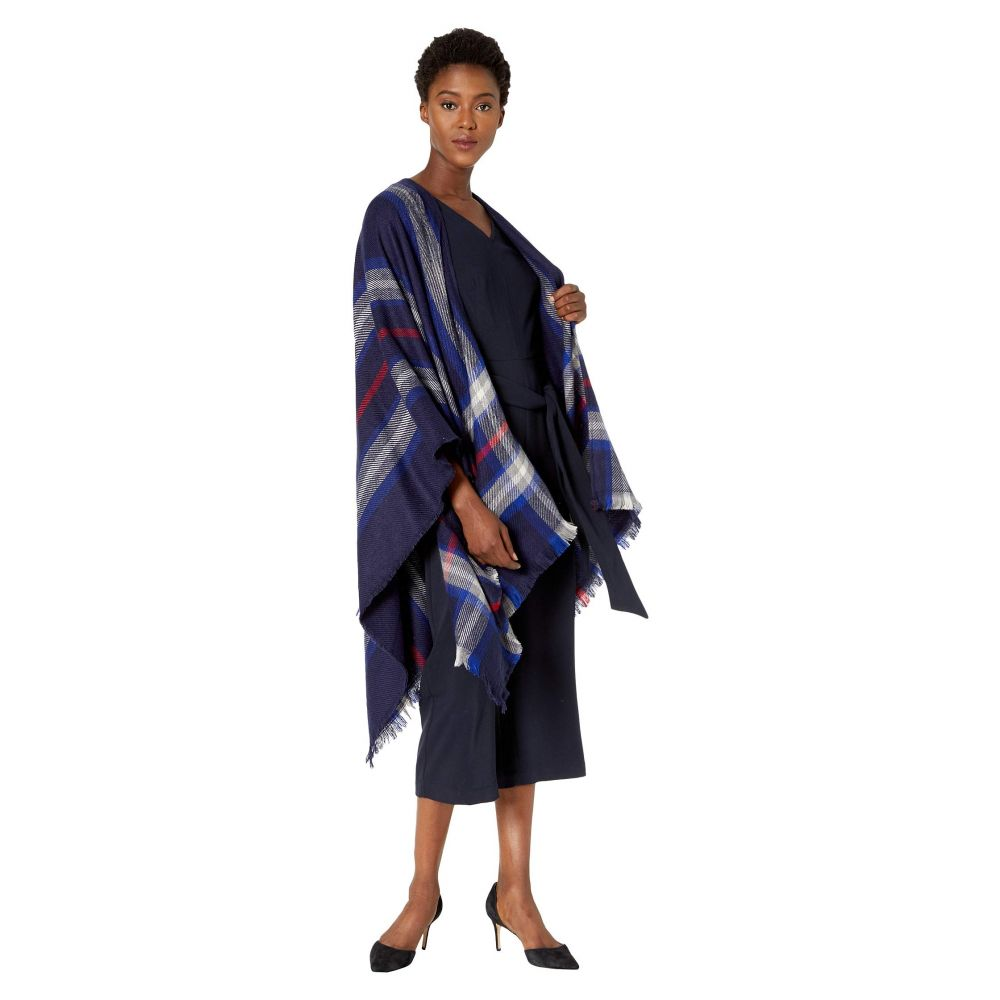 ラルフ ローレン LAUREN Ralph Lauren レディース トップス 【Exploded Plaid Ruana】Navy Plaid