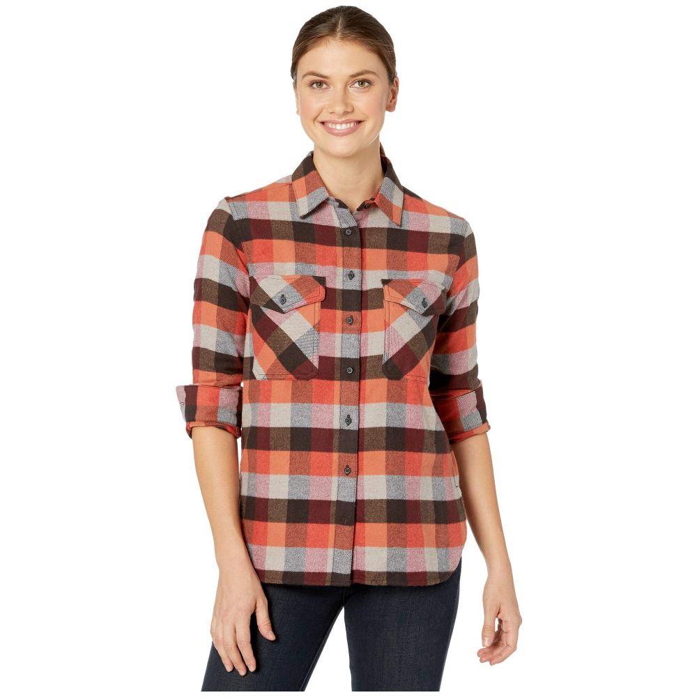ペンドルトン Pendleton レディース ブラウス・シャツ フランネルシャツ トップス【Elbow Patch Flannel Shirt】Red Rock/Grey Multi Check