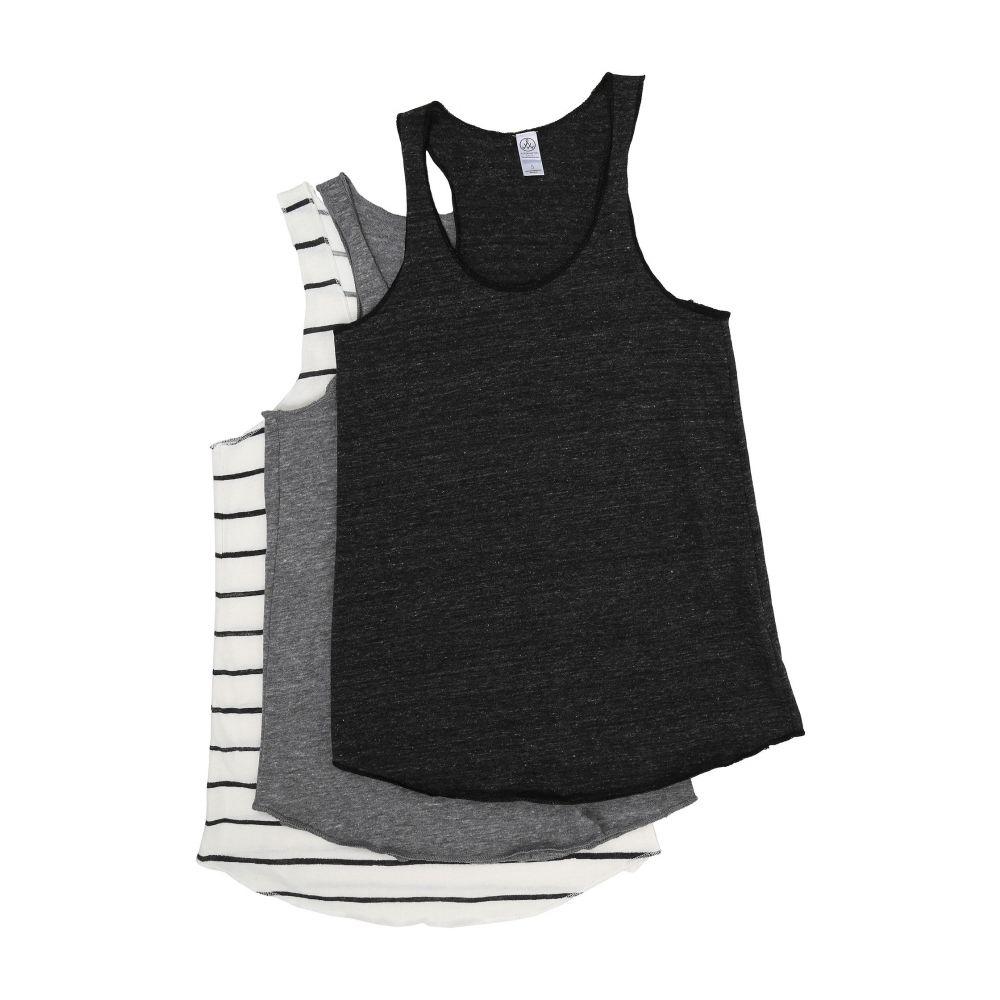 オルタナティヴ Alternative レディース タンクトップ トップス【Meeg's Racerback Tank Bundle】Eco Black/Eco Grey/Eco Ivory Ink Stripe