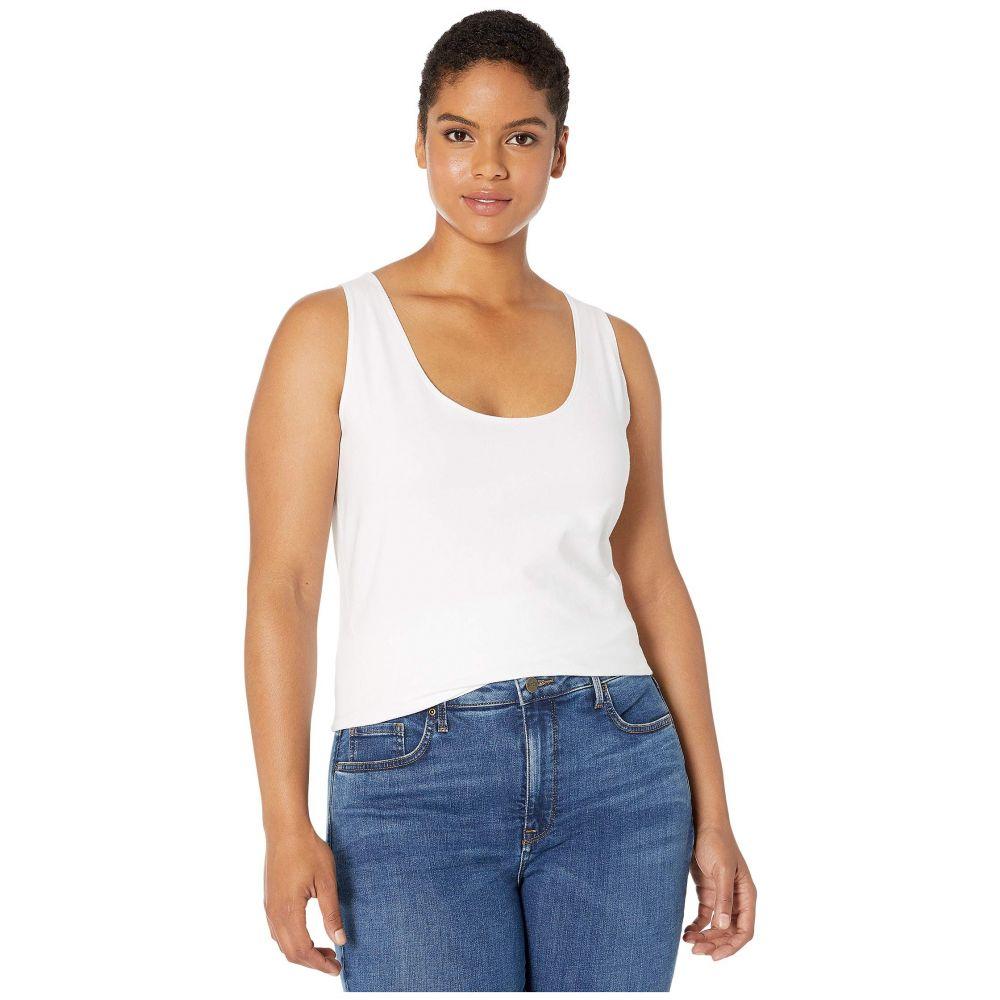 リセ Lysse レディース タンクトップ 大きいサイズ トップス【Plus Size Cotton Tank Top】White