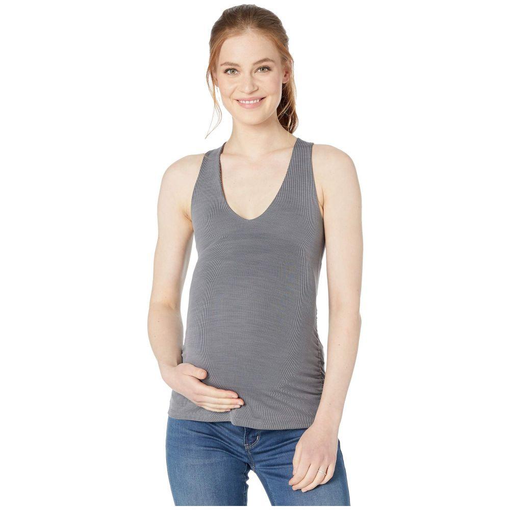 ビヨンドヨガ Beyond Yoga レディース タンクトップ マタニティウェア トップス【Maternity Heather Rib Shirred Tank】Gray Heather