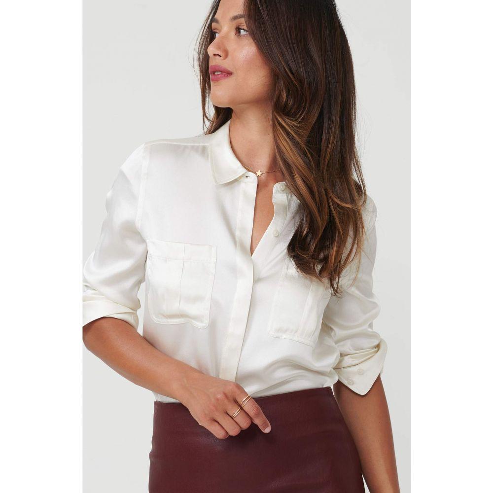 アンタックイット UNTUCKit レディース ブラウス・シャツ トップス【Carlina Eco Friendly Stretch Silk Button-Up Blouse】Ivory