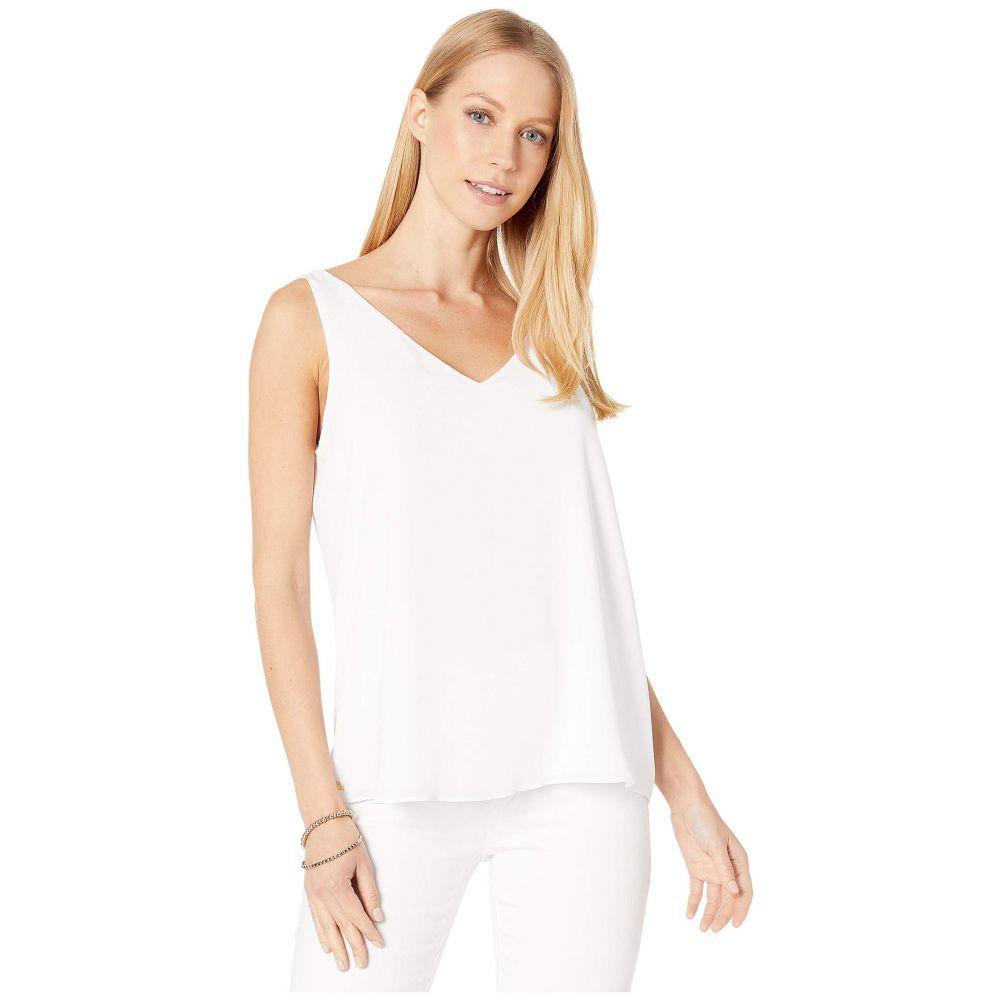 リリーピュリッツァー Lilly Pulitzer レディース ノースリーブ Vネック トップス【Reversible Florin Sleeveless V-Neck】Resort White