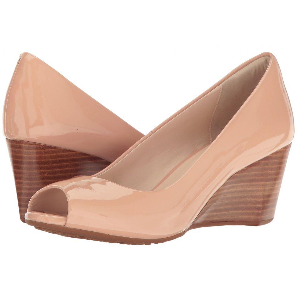 コールハーン Cole Haan レディース ヒール オープントゥ ウェッジソール シューズ・靴【Sadie Open Toe Wedge 65mm】Nude Patent