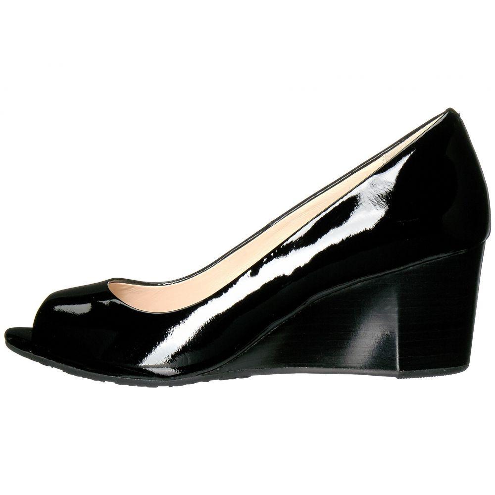 コールハーン Cole Haan レディース ヒール オープントゥ ウェッジソール シューズ・靴 Sadie Open Toe Wedge 65mm Black PatentOkiuPXZ