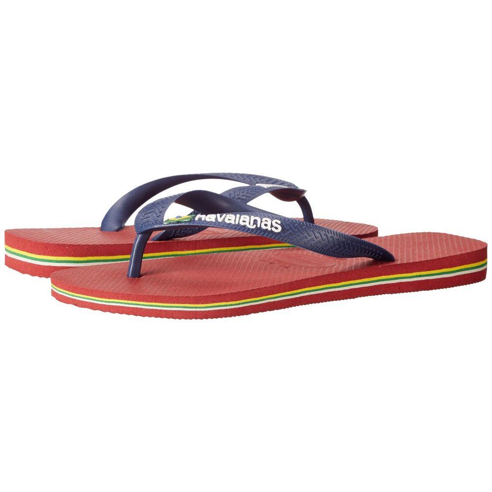 ハワイアナス Havaianas メンズ ビーチサンダル シューズ・靴【Brazil Logo Flip Flops】Red