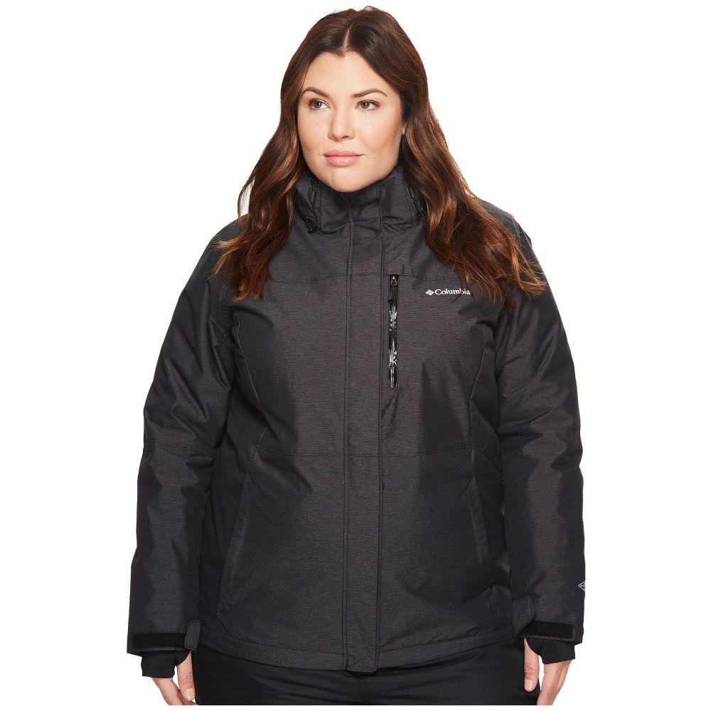 コロンビア Columbia レディース スキー・スノーボード 大きいサイズ ジャケット アウター【Plus Size Alpine Action(TM) Omni-Heat(TM) Jacket】Black Crossdye/Black