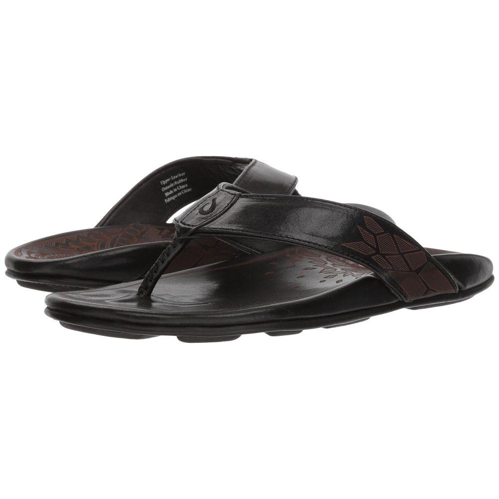 オルカイ OluKai メンズ ビーチサンダル シューズ・靴【Kulia】Black/Black