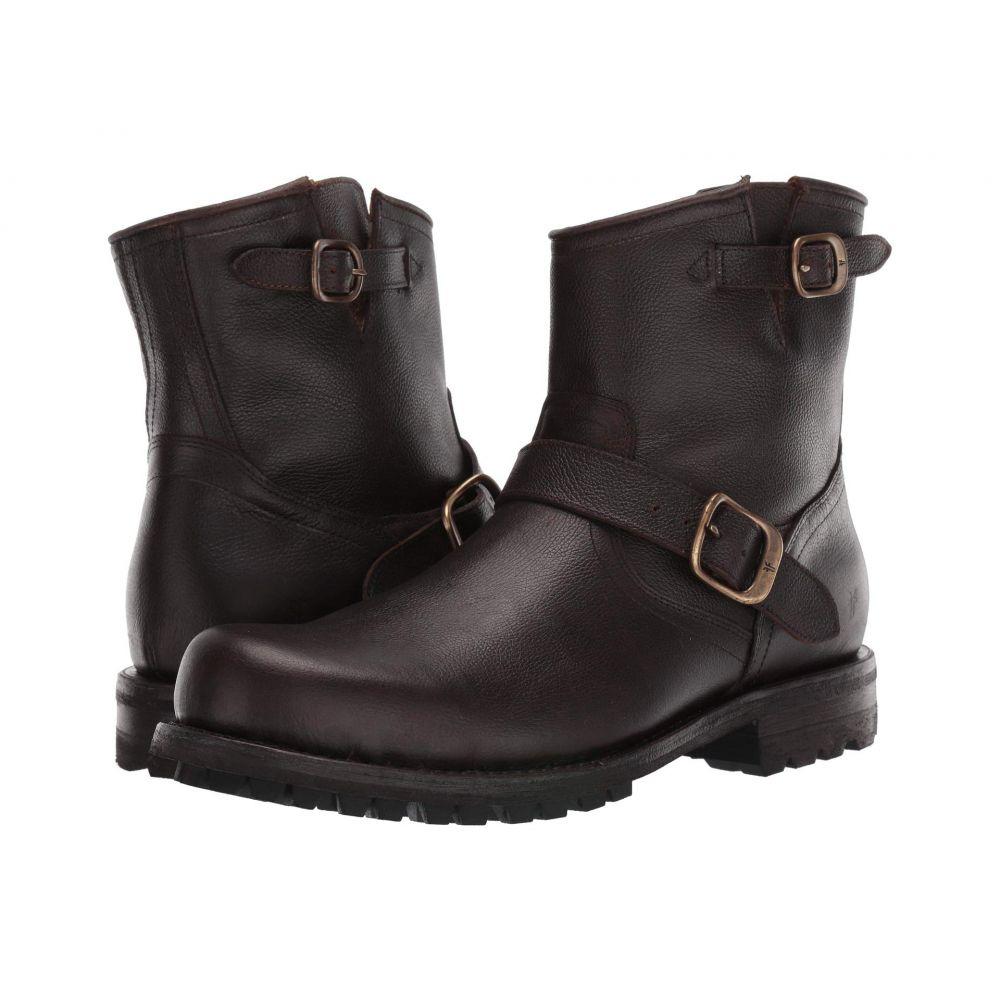 フライ Frye メンズ ブーツ シューズ・靴【Boyd Engineer Boots】Dark Brown WP Tumbled Full Grain