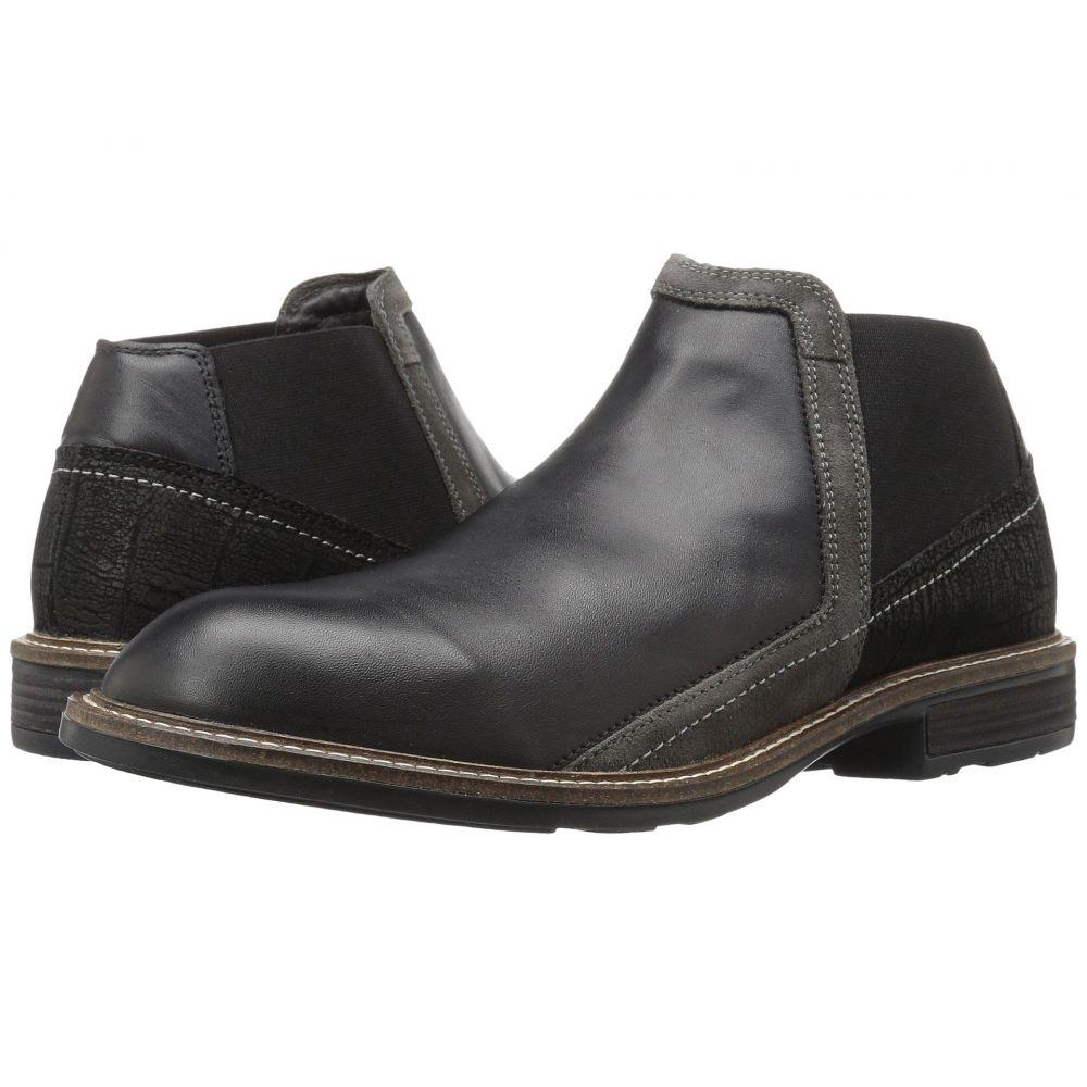 ナオト Naot メンズ ブーツ シューズ・靴【Business】Black Raven Leather/Black Crackle Leather/Gray Suede