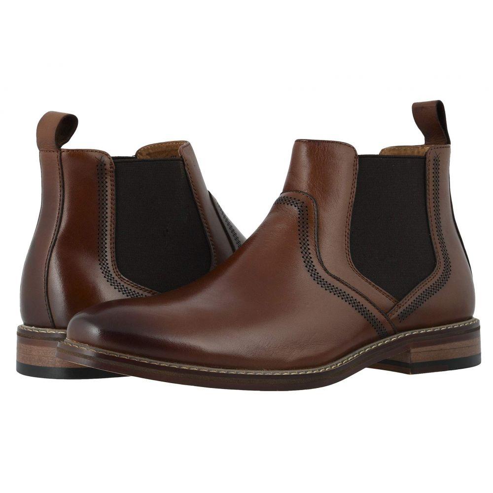 ステイシー アダムス Stacy Adams メンズ ブーツ チェルシーブーツ シューズ・靴【Altair Plain Toe Chelsea Boot】Cognac