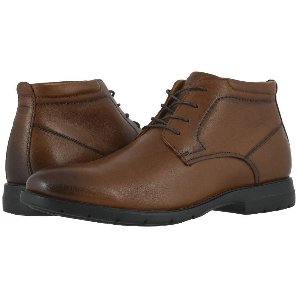 フローシャイム Florsheim メンズ ブーツ チャッカブーツ シューズ・靴【Westside Plain Toe Chukka Boot】Cognac Smooth