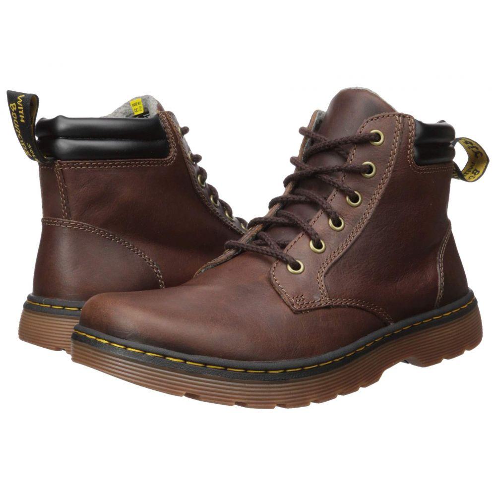 ドクターマーチン Dr. Martens メンズ ブーツ シューズ・靴【Tipton Robson II】Dark Brown/Black Forty Leather