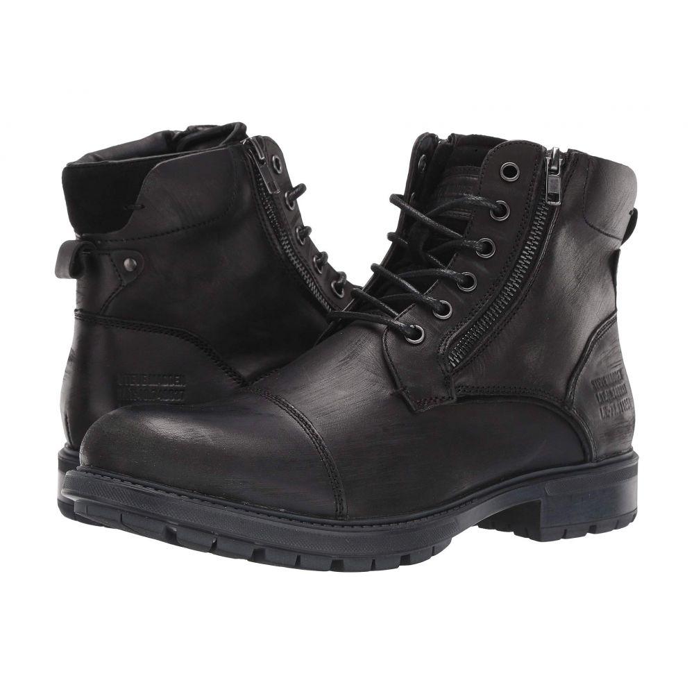 スティーブ マデン Steve Madden メンズ ブーツ シューズ・靴【Self Made Ryker】Black Leather