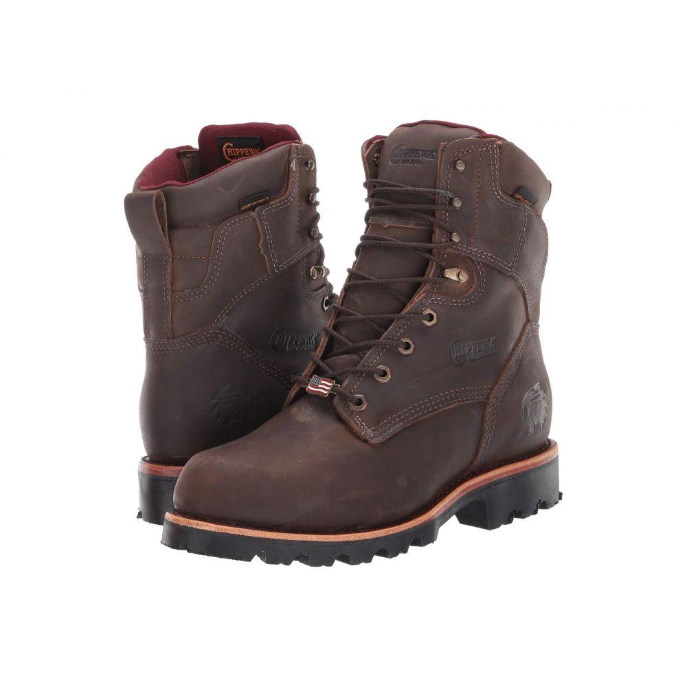 チペワ Chippewa メンズ ブーツ シューズ・靴【Ryodan 8' Waterproof Boot】Bay Apache Brown