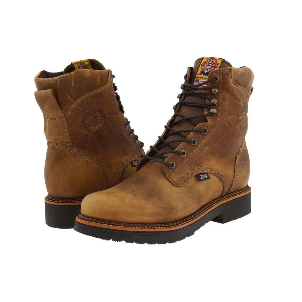ジャスティン Justin メンズ ブーツ ワークブーツ レースアップブーツ シューズ・靴【Blueprint 8' Lace Up Work Boot】Rugged Tan Gaucho