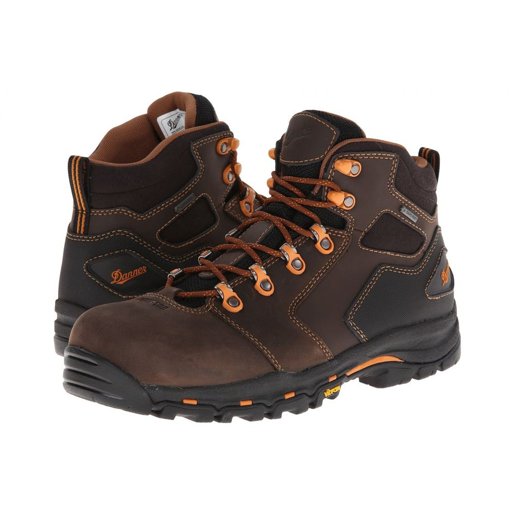 ダナー Danner メンズ ブーツ シューズ・靴【Vicious 4.5' Non-Metallic Safety Toe】Brown/Orange
