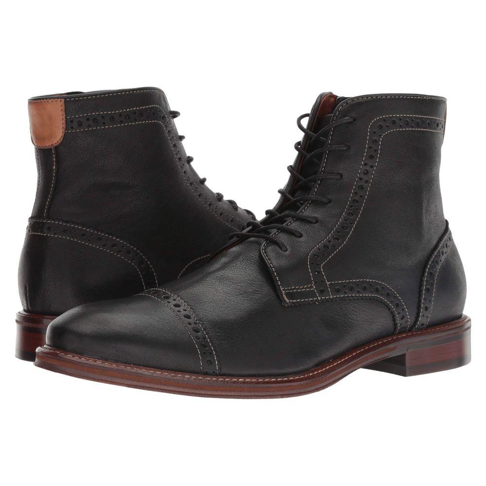 ジョンストン&マーフィー Johnston & Murphy メンズ ブーツ シューズ・靴【Warner Cap Toe Zip Boot】Black Full Grain