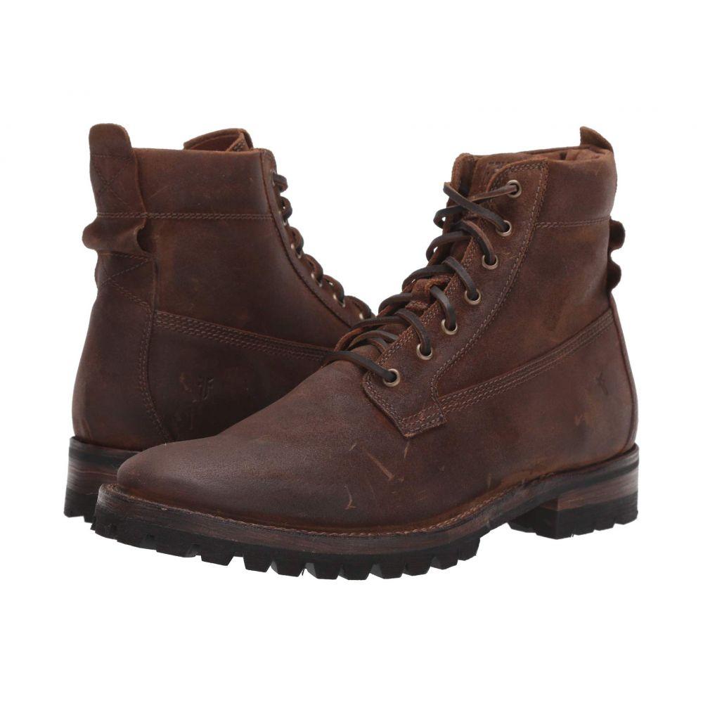 フライ Frye メンズ ブーツ シューズ・靴【Union Workboot】Brown WP Waxed Suede