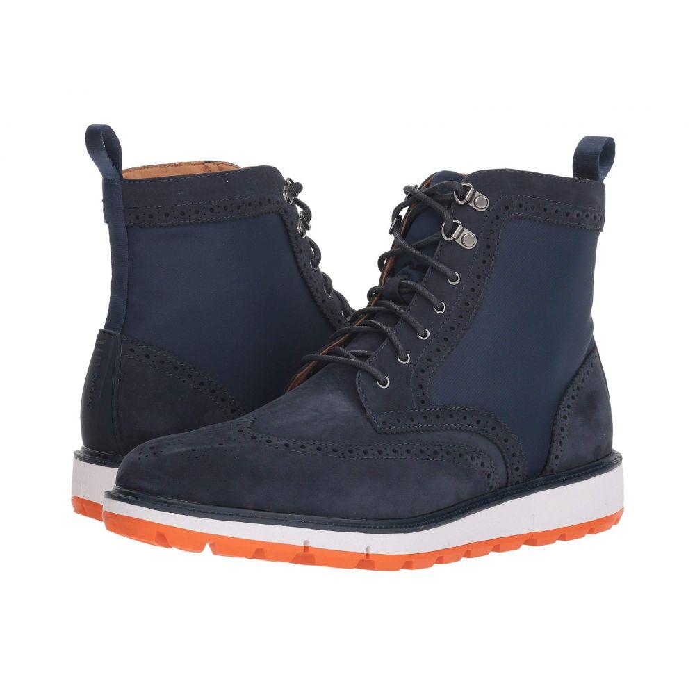 スウィムス SWIMS メンズ ブーツ ウイングチップ シューズ・靴【Motion Wing Tip Boot】Navy/Orange
