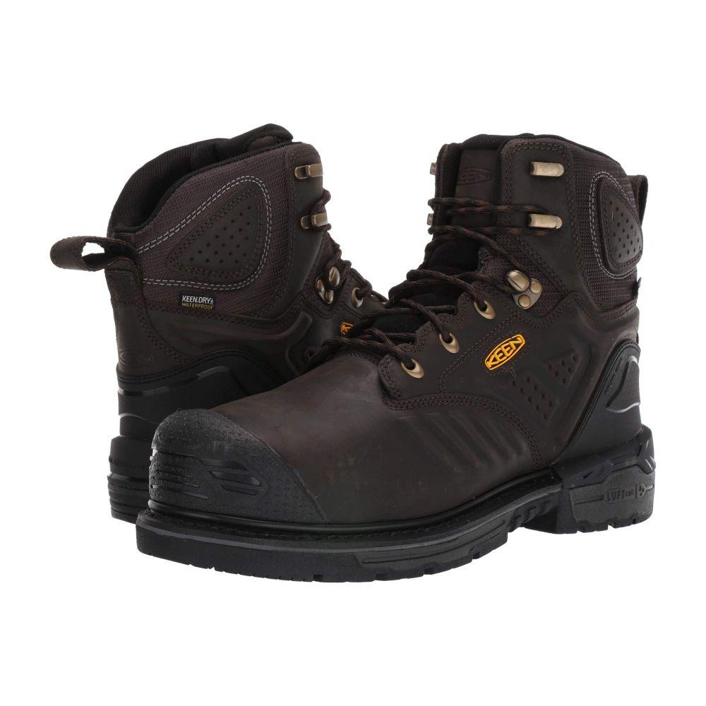 キーン Keen Utility メンズ ブーツ シューズ・靴【CSA Philadelphia 6' Internal Met WP Carbon-Fiber Toe】Cascade Brown/Black