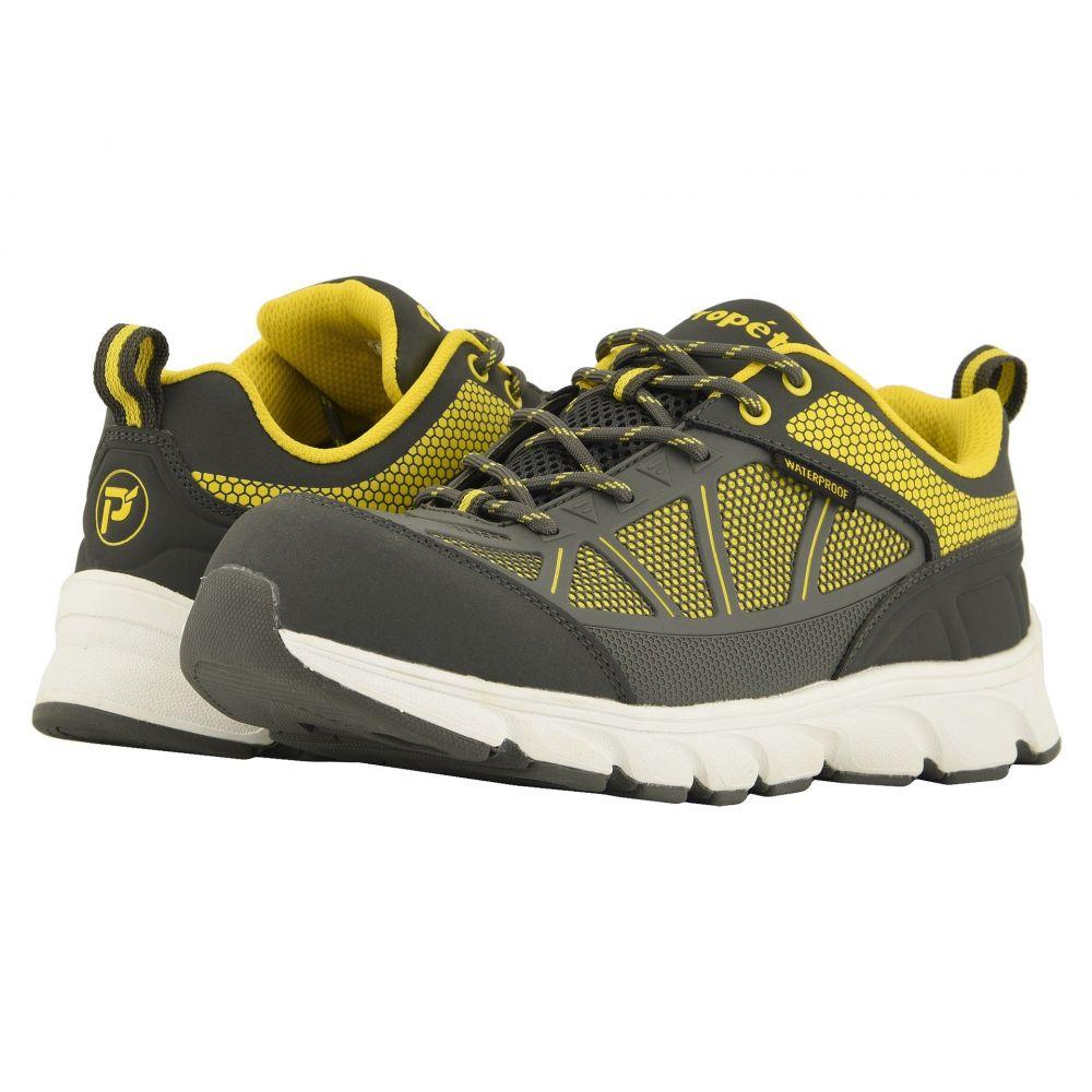 プロペット Propet メンズ シューズ・靴 【Seeley Work】Grey/Yellow