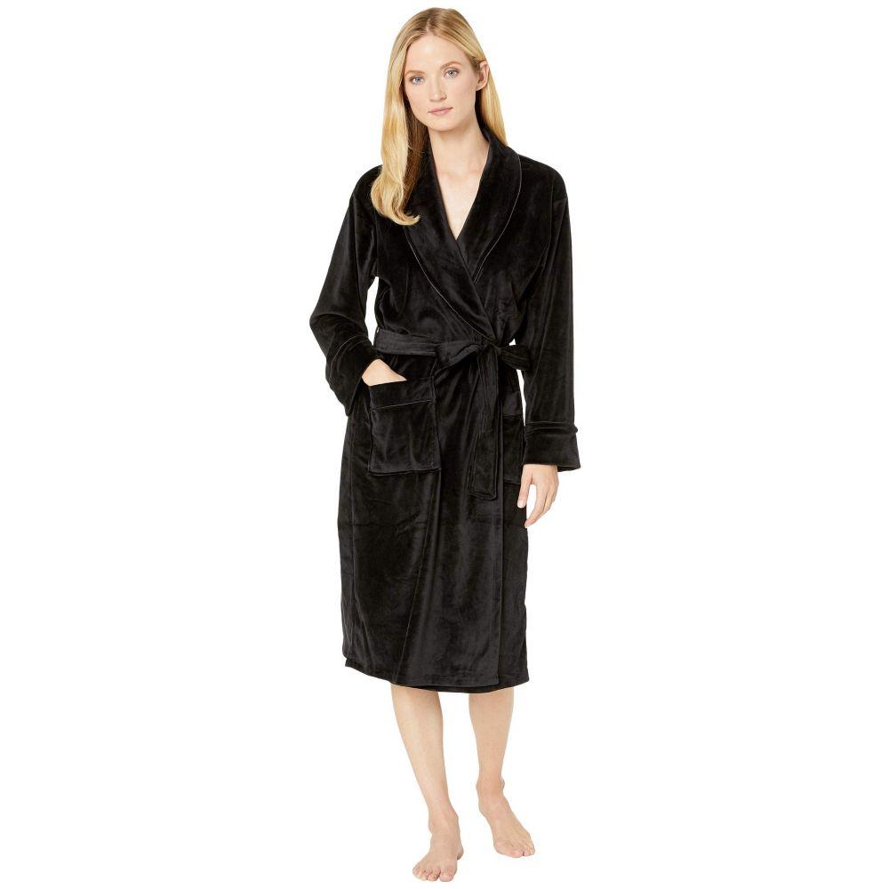 ダナ キャラン ニューヨーク Donna Karan レディース パジャマ・トップのみ インナー・下着【Lux Dream Long Wrap Robe】Black